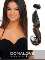 Zwei Farben Ombre indisch remy clip in hair extensions OD011