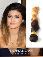 Zwei Farben Ombre indisch remy clip in hair extensions OD012