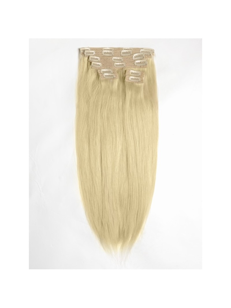 hell aschblond indian remy clip in hair extensions sd014. Black Bedroom Furniture Sets. Home Design Ideas