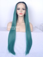"24"" #27S Waist-length Straight Synthetic Lace Wig-SNY013"