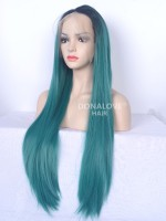 "4"" #27S Waist-length Straight Synthetic Lace Wig-SNY013"