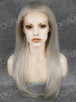 "24"" #7 Waist-length Straight Synthetic Lace Wig-SNY017"