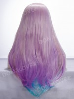 "24"" blue mix purple Waist-length Straight Synthetic Lace Wig-SNY024"