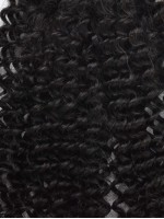 inky Curly 100% Virgin Remy Clip In Hair Closure CLD003