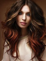 Ombre und Balayage indisch remy clip in hair extensions OD024
