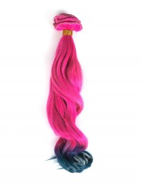 Rosa nach Grau Ombre Mermaid Bunte Clip In Hair Extensions CD016