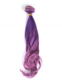 Lila Mermaid Bunte Clip In Hair Extensions CD018