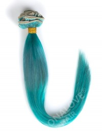Grau-Farbeband Bunte Indisch Remy Clip In Hair Extensions CD019