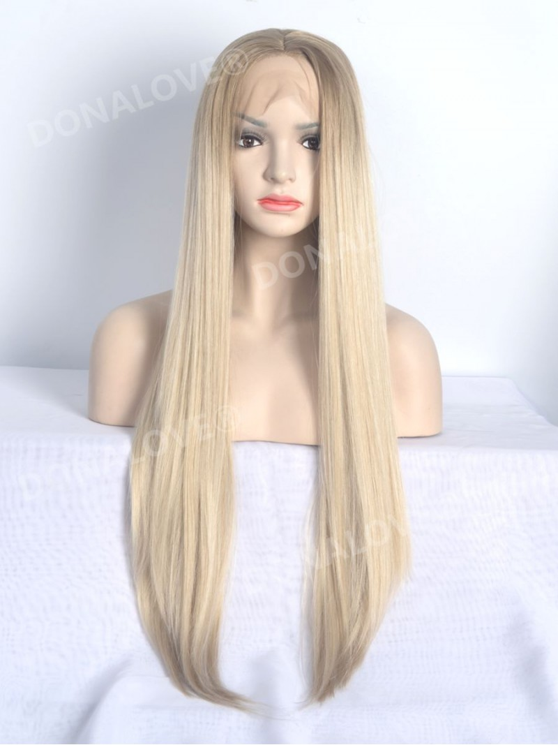 Braun ombr blond lace front synthetische per cke sny108 for Ombre blond braun