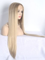 Braun Ombré Blond Lace Front synthetische Perücke SNY108