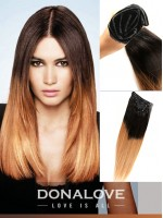 Zwei Farben Ombre indisch remy clip in hair extensions OD001