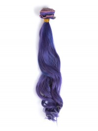 Lila Farbe Indisches Haar Clip In Hair Extensions CD005