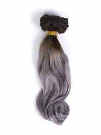 Schwarz nach Silber Ombre Clip in Hair Extensions CD007