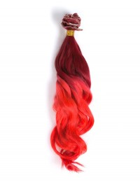 Rot Mermaid Bunte Ombre indisch remy clip in hair extensions CD011