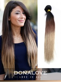 Zwei Farben Ombre indisch remy clip in hair extensions OD005