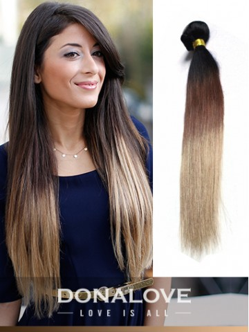 Zwei Farben Ombre Indisch Remy Clip In Hair Extensions Od005 Clip