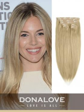 Hell Golden Braun indisch remy clip in hair extensions SD012