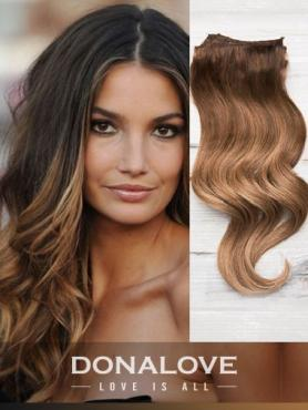 Zwei Farben Ombre indisch remy clip in hair extensions OD002