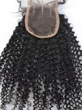 Wellige Lockige 100% Rein Remy Clip in Haar Closures CLD003