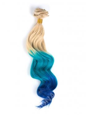 Weiß Blond nach Mermaid Bunte Clip in Hair Extensions CD006